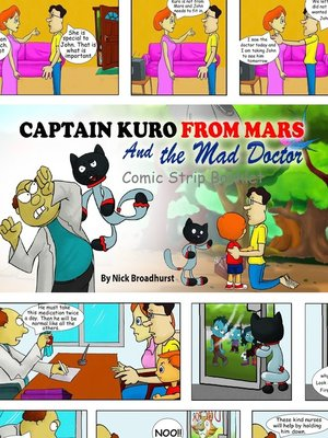cover image of Captain Kuro From Mars and the Mad Doctor Comic Strip Booklet