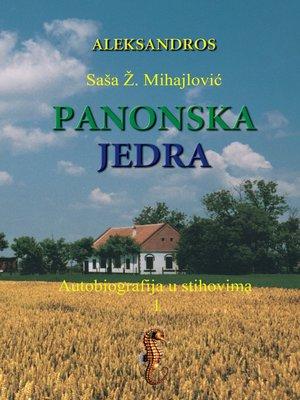 cover image of Panonska Jedra