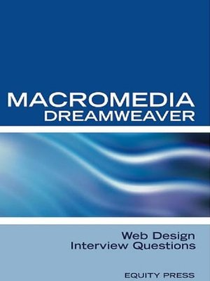 cover image of Macromedia Dreamweaver Web Design Interview Questions