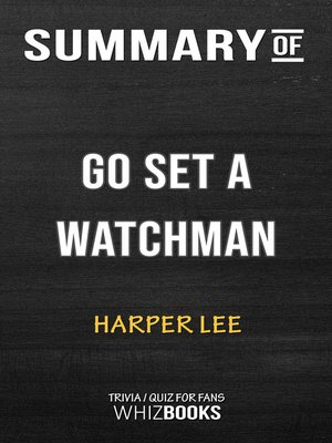 cover image of Summary of Go Set a Watchman