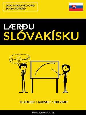 cover image of Lærðu Slóvakísku