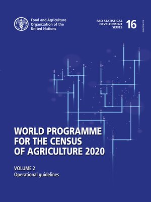 cover image of World Programme for the Census of Agriculture 2020