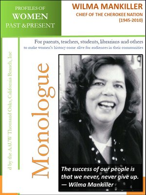 cover image of Profiles of Women Past & Present – Wilma Mankiller, Chief of the Cherokee Nation (1945 – 2010)