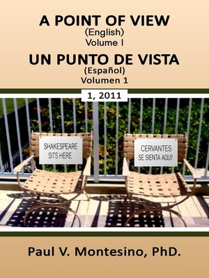 "cover image of ""A Point of View- Un Punto de Vista"" Volumen 1"