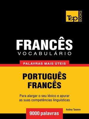 cover image of Vocabulário Português-Francês