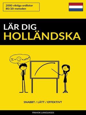 cover image of Lär dig Holländska