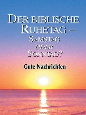 cover image of Der biblische Ruhetag