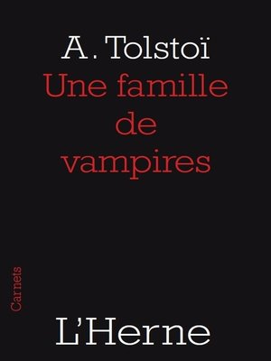 cover image of Une famille de vampires