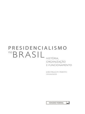 cover image of Presidencialismo no Brasil