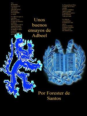 cover image of Unos buenos ensayos de Adbeel