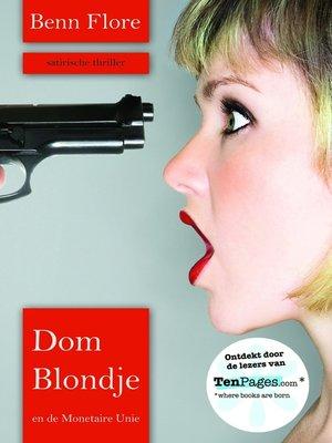 cover image of Dom Blondje en de Monetaire Unie