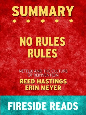 cover image of Summary of No Rules Rules