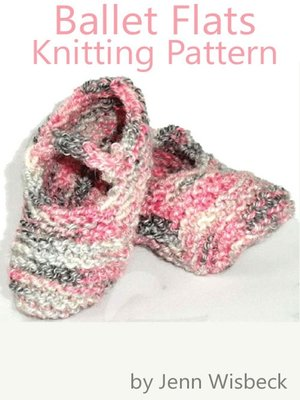 cover image of Ballet Flats Baby Knitting Pattern