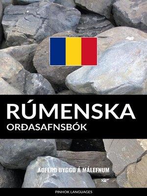 cover image of Rúmenska Orðasafnsbók