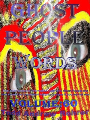 cover image of Ghost People Words- Volume