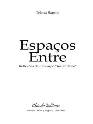 cover image of Espaços Entre