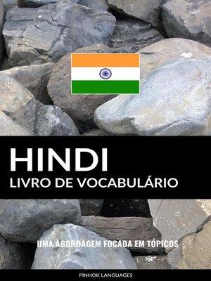 cover image of Livro de Vocabulário Hindi