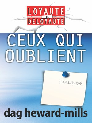 cover image of Ceux qui oublient