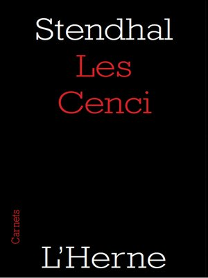 cover image of Les Cenci