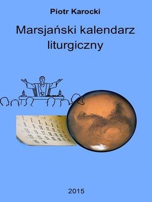 cover image of Marsjański kalendarz liturgiczny