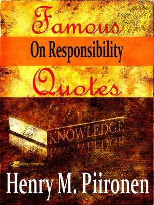 cover image of Famous Quotes on Responsibility