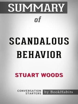cover image of Summary of Scandalous Behavior (A Stone Barrington Novel) by Stuart Woods / Conversation Starters