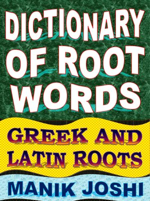 cover image of Dictionary of Root Words