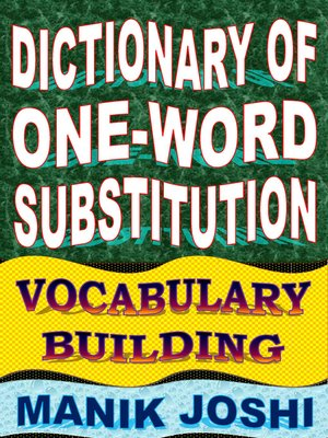 cover image of Dictionary of One-word Substitution