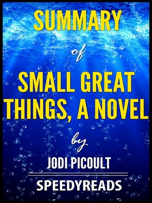 cover image of Summary of Small Great Things, a Novel by Jodi Picoult