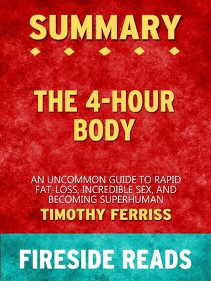 cover image of Summary of the 4-Hour Body