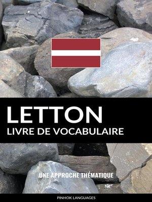 cover image of Livre de vocabulaire letton