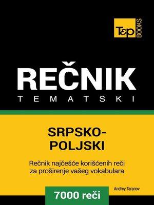 cover image of Srpsko-Poljski tematski rečnik