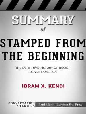 cover image of Summary of Stamped From the Beginning