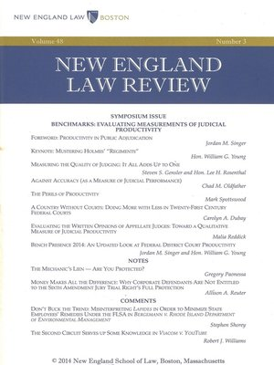 cover image of New England Law Review