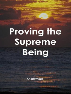 cover image of Proving the Supreme Being