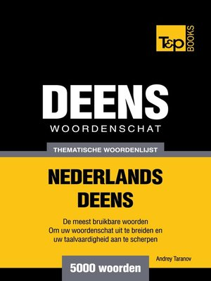 cover image of Thematische woordenschat Nederlands-Deens