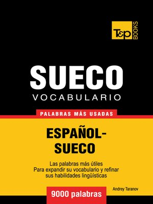 cover image of Vocabulario Español-Sueco