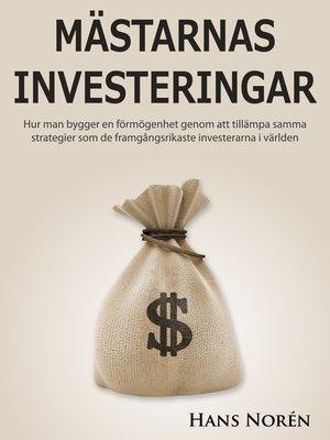 cover image of Mästarnas Investeringar