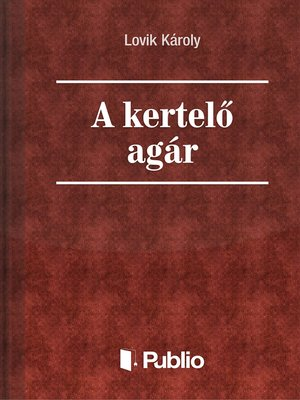 cover image of A kertelő agár