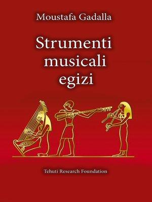 cover image of Strumenti musicali egizi