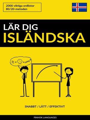 cover image of Lär dig Isländska