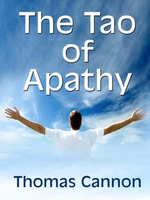 cover image of The Tao of Apathy