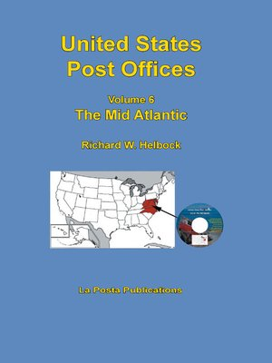 cover image of United States Post Offices Volume 6 the Mid Atlantic