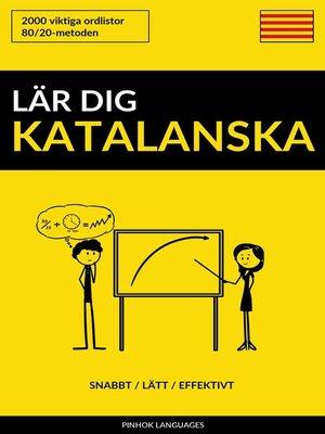 cover image of Lär dig Katalanska