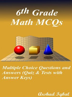 cover image of Grade 6 Math Multiple Choice Questions and Answers (MCQs)