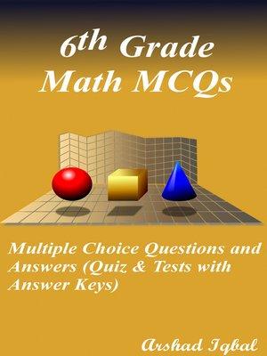 cover image of 6th Grade Math MCQs