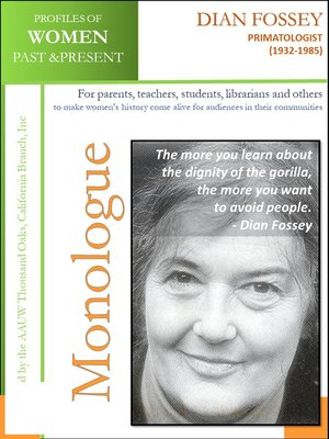 cover image of Profiles of Women Past & Present – Dian Fossey, Primatologist (1932-1985)