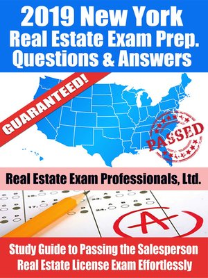 cover image of 2019 New York Real Estate Exam Prep Questions, Answers & Explanations