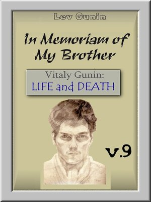 cover image of In Memoriam of my Brother. V. 9. Literary Works.