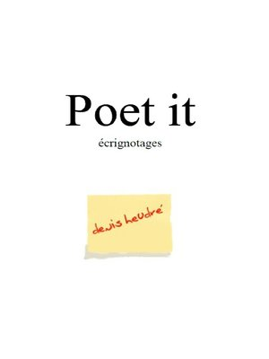 cover image of Poet-it